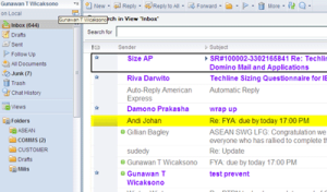 how to change lotus notes unread mail color