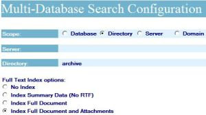 Archive Search configuration scope