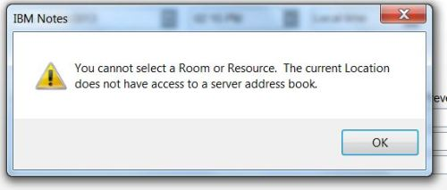 Cannot Select Room